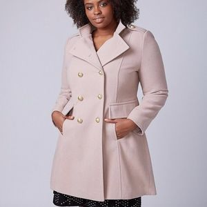 ROSE PINK PEA COST COREST MILITARY TRENCH COAT